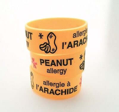 Peanuts' Allergy Alert 100% Silicone Wristband Medical Id
