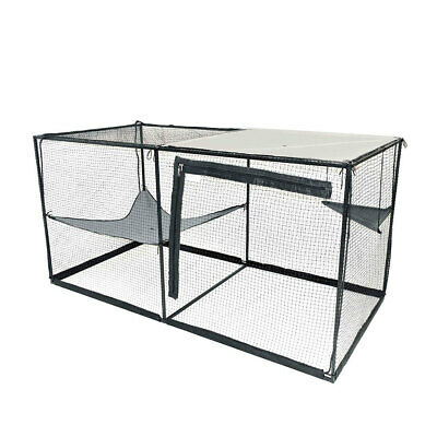 RSPCA Cat Enclosure, Modular, Strong Aluminium Frame | 2.4m Long | Portable