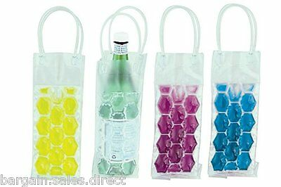 Apollo Instant Cool Ice Gel Bag Wine Bottle Cooler In 4 Asstd Colour
