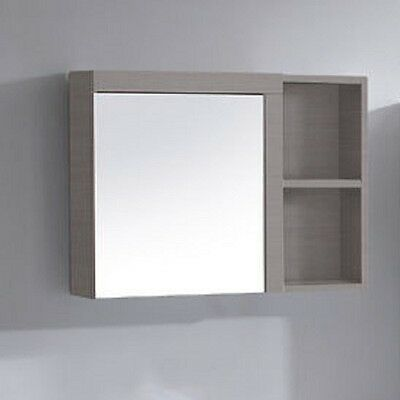600 x 550 x 138 mm Mushroom Color Edge Shaving Cabinet Mirror Clearance Sale