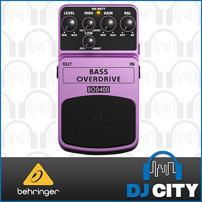 Behringer BOD400 Tube Sound Overdrive Pedal for Bass Guitar