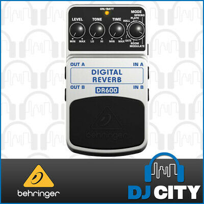 Behringer DR600 Digital Reverb Stereo Reverb Effects Pedal *New*