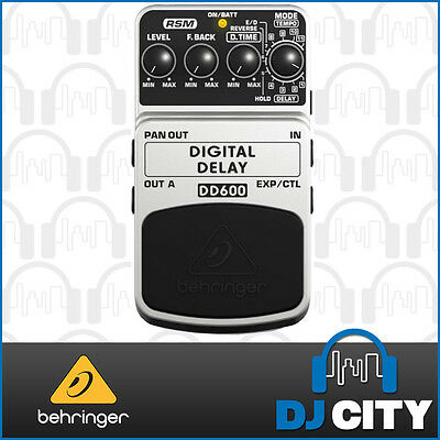Behringer DIGITAL DELAY DD600 Digital Stereo Delay/Echo Effects Pedal