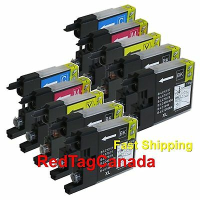 10 Pack LC75 LC-75 Ink For Brother MFC-J280W MFC-J425W MFC-J430W MFC-J435W