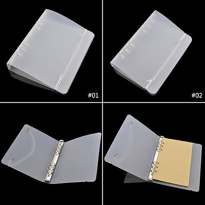 A5/A6 Transparent 6 Hole Ring Binder PVC File Folder Notepad Office Stationery