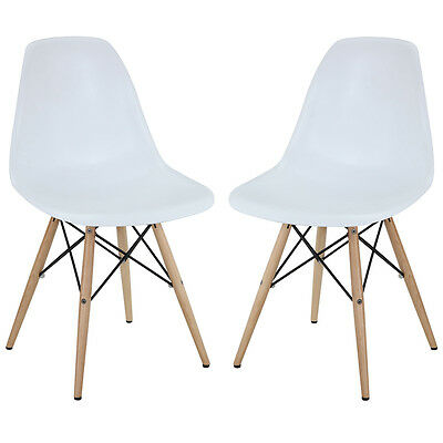 Modway Furniture Pyramid Dining Side Chairs Set of 2 White - EEI-928-WHI Chair