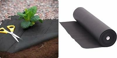 50gsm WEED CONTROL FABRIC MEMBRANE DRIVEWAY GROUND COVER SHEET LANDSCAPE