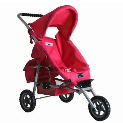 Valco Baby Mini Marathon Doll Stroller with Toddler Seat - Pink