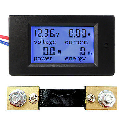 DC 6.5~100V 20A 50A 100A LCD Digital Current Voltage Power Energy Panel Meter