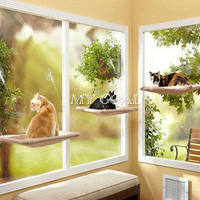 20KG Cat Basking Window Hammock Perch Cushion Bed Hanging Shelf Seat Mounted