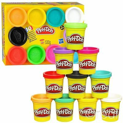 New Hasbro Play-Doh 10 Mini Tub Pack Dough Creative Activity Party Official