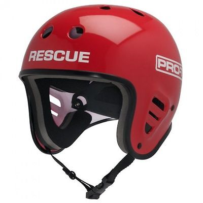 ProTec Watersports Full Cut Water Rescue Helmet RED S-M-L-XL Canoe Kayak