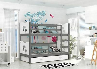 Max Bunk Bed Kids  Childrens With Free Mattresses And Storage Drawers