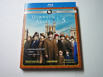 Masterpiece: Downton Abbey - Season 5 w/Slipcover Blu-ray Disc, 2015, 3-Disc Set
