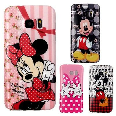 Disney Cartoon Mickey Minnie Mouse Back Case Cover For Samsung Galaxy S7 S6 Edge