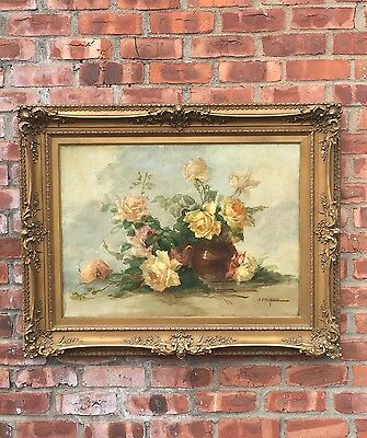 Van Nuys California Artist John Califano Oil Painting. Floral Still Life. Signed