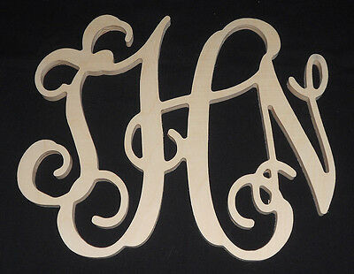 "Wooden Monogram - Vine - 20"" size - Unpainted - Child - Nursery - Home Decor"