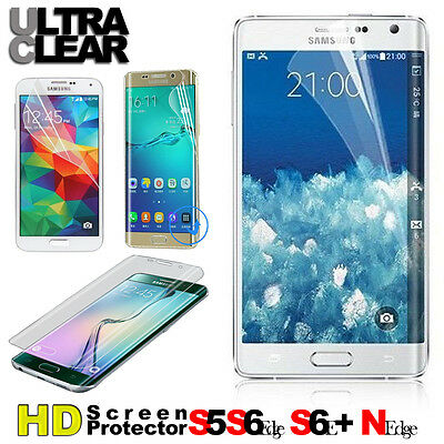 Screen Protector Full Cover HD for Samsung Galaxy S5 S6 Edge Plus+ Note Edge