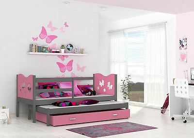 Max P2 Trundle Bed Kids  Childrens With Free Mattresses And Storage Drawers