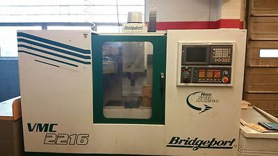 2000 Bridgeport VMC 2216 CNC Vertical Machining Center.  SCHOOL MACHINE! Fanuc.
