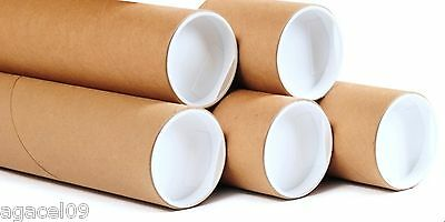 Cardboard Postal Tubes 1050mm x 50mm x 2mm with Plastic End Caps