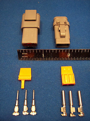 3-Way Deutsch DTM connector kit