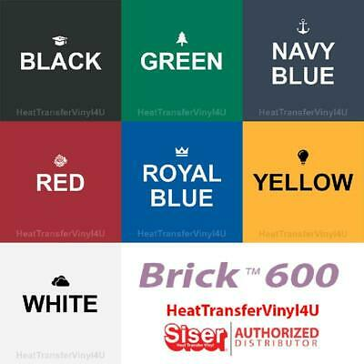 "Siser Brick 600 Iron On Heat Transfer Vinyl (20"" Width) **FREE SHIPPING**"