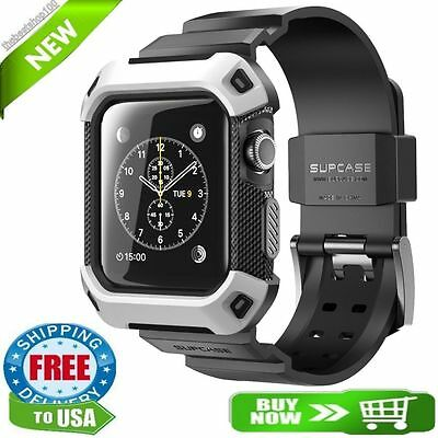Supcase Rugged Protective Case with Strap Bands for 42 mm Apple Watch, New