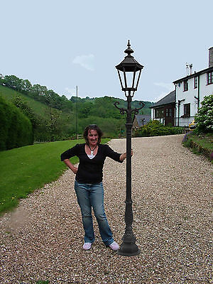 "Cast Iron 106"" Lamp Post Victorian style - clear glass (E43)"