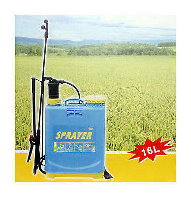 16L Litre Pressure Sprayer Water Spray Bottle Backpack Knapsack Weed Killer HQ