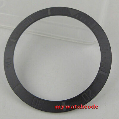 brushed black ceramic bezel insert for 40mm sub watch made by parnis factory