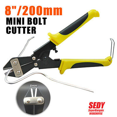 "NEW 200mm 8"" Mini Bolt Cutter Wire Snip Line Pliers Strippers Metal Cutting Tool"