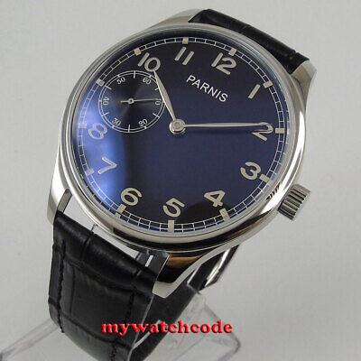 44mm parnis gray dial silver marks 6497 movement hand winding mens watch P236