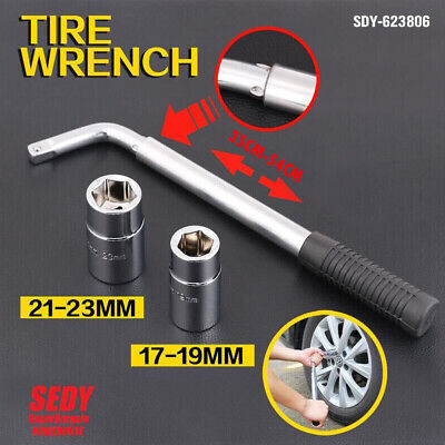 NEW 500mm TELESCOPIC WHEEL NUTS WRENCH SPANNER SOCKET SET 17mm 19mm 21mm 23mm