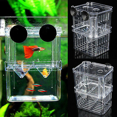 Floating Aquarium Fish Breeding Tank Breeder Box Fry Trap Hatchery Nursery