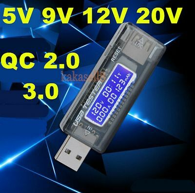 USB Charger Doctor Capacity Time Current Voltage Detector Meter Tester QC2.0 3.0