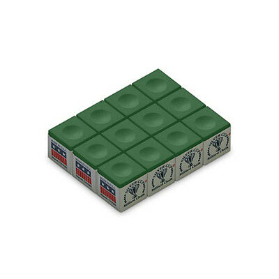 Quality USA Silver Cup 12 Pro Green Pool Snooker Chalks Free Post Formula