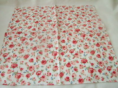 Made in Japan Muslin cotton rose white rose Hanky Handkerchief