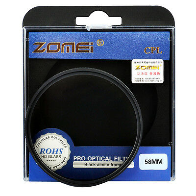 Zomei 67/72/77/82 Circular Polarizing Polarizer CPL Filter for Canon Nikon Lens