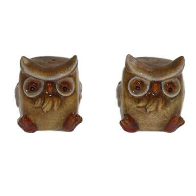 French Country Chic Collectable Novelty Salt and Pepper Set BROWN OWLS FREEPO...