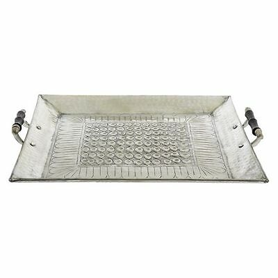 NEW Casa Uno Embossed Eyelet Tray with Handles