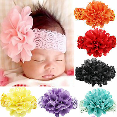 Newborn Kids Baby Girls Toddler Flower Headband Hair Band Headwear Accessories N