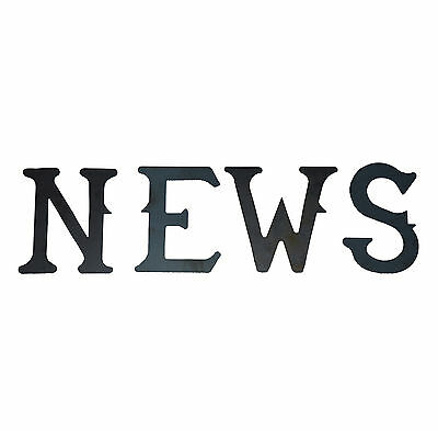 """A Set of 4 Steel North South East West NEWS Weathervane Letters 4"""" - Laser cut"""