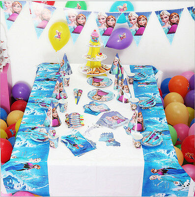 elsa anna die eisk nigin party geburtstag kindergeburtstag deko set f r 6 kinder eur 19 99. Black Bedroom Furniture Sets. Home Design Ideas