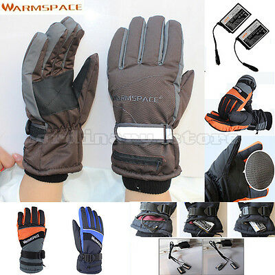 Rechargeable Battery Power Electric Heated Hand Winter Outdoor Ski Warmer Gloves