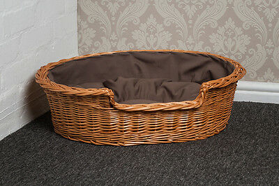 Mediun Large Wicker Dog Basket with Cushion EXPRESS DELIVERY AVAILABLE