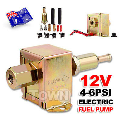 12 Volt Solid State 4 to 6psi 130 LPH Universal Petrol Facet Electric Fuel Pump