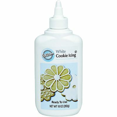 Wilton Cookie Icing White Ready To Use 10Oz Cookie Cupcake Biscuits Decoration