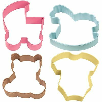 Wilton Baby Theme Cookie Cutter Set 4 Pieces Shower Biscuits Making Cutting
