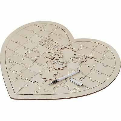 Ginger Ray Boho Wooden Jigsaw Puzzle Guest Book Vintage Wedding Supply